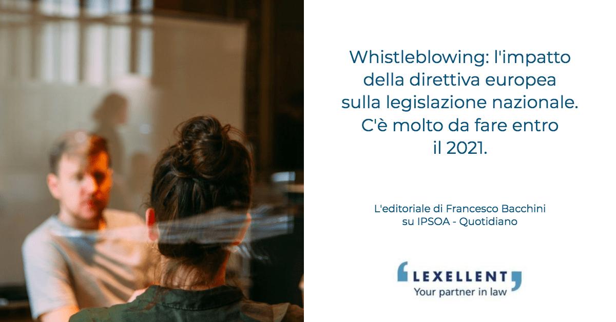 Whistleblowers: l'Europa rafforza le tutele. Nuovi compiti anche per le aziende
