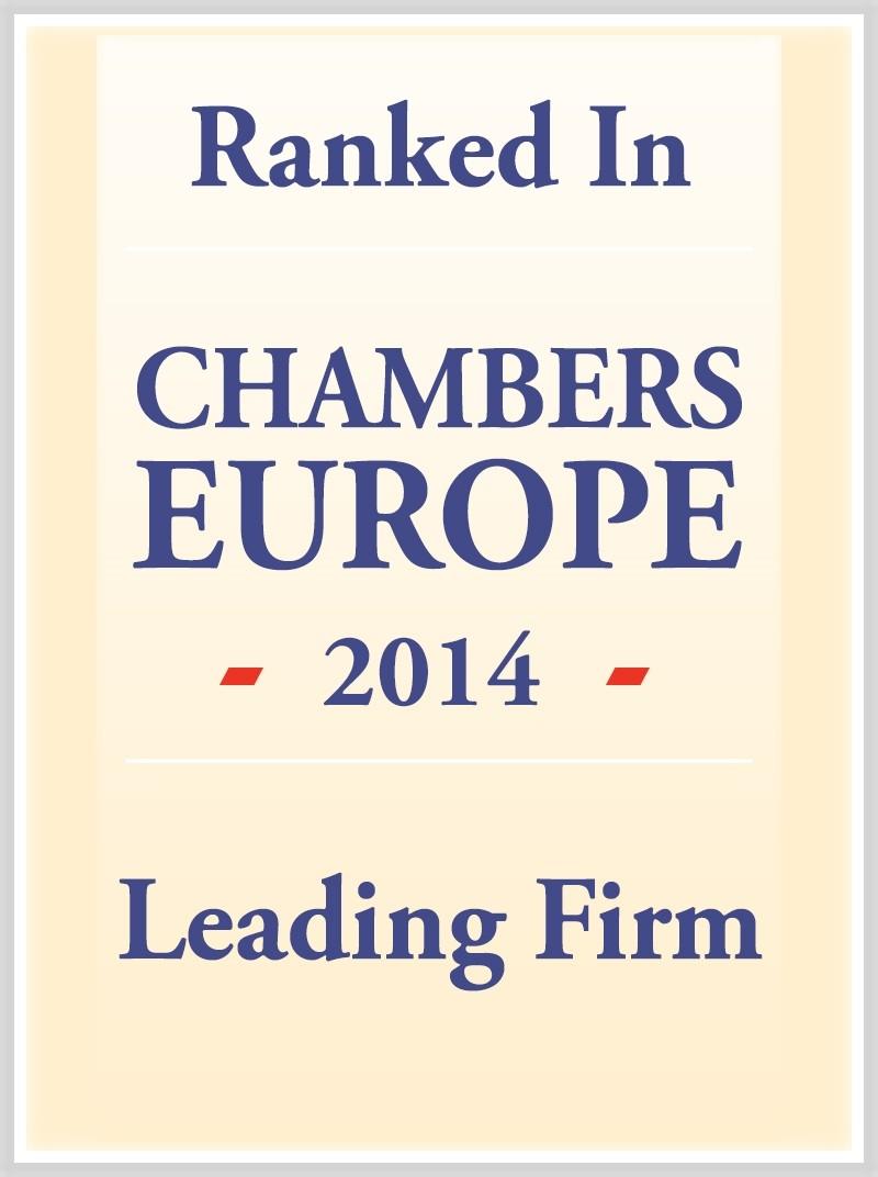 CHAMBERS EUROPE 2014: riconoscimento da Chambers & Partners
