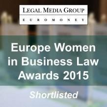 EUROPE WOMEN IN BUSINESS LAW AWARDS 2015: finalista.