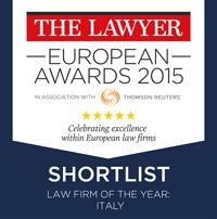 THE LAWYER: Studio Legale dell'Anno 2015 – Finalisti