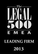 LEGAL 500: Leading Firm
