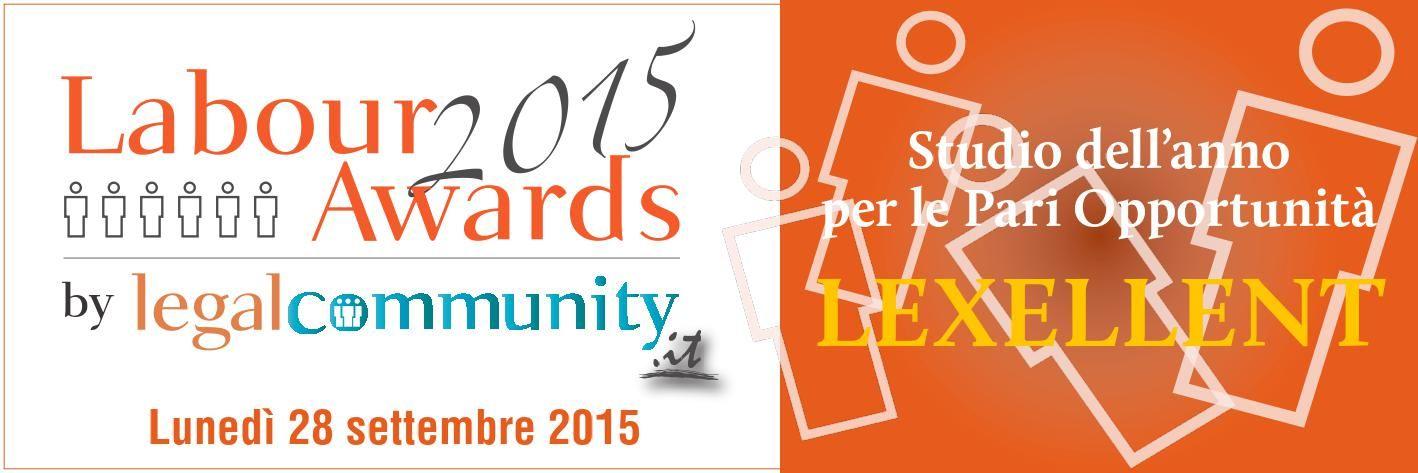 vincitore del premio Pari Opportunità di Legal Community.