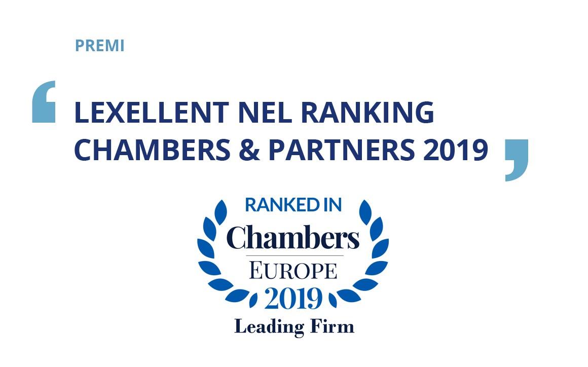 Lexellent nel ranking di Chambers&Partners 2019