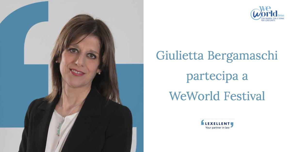 Giulietta Bergamaschi partecipa a WeWorld Festival