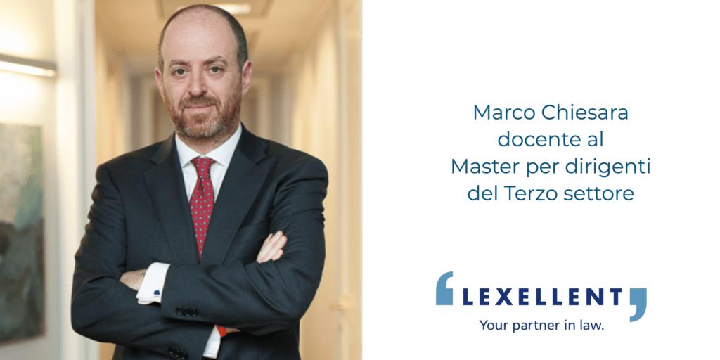Marco Chiesara docente al Master per dirigenti del Terzo Settore