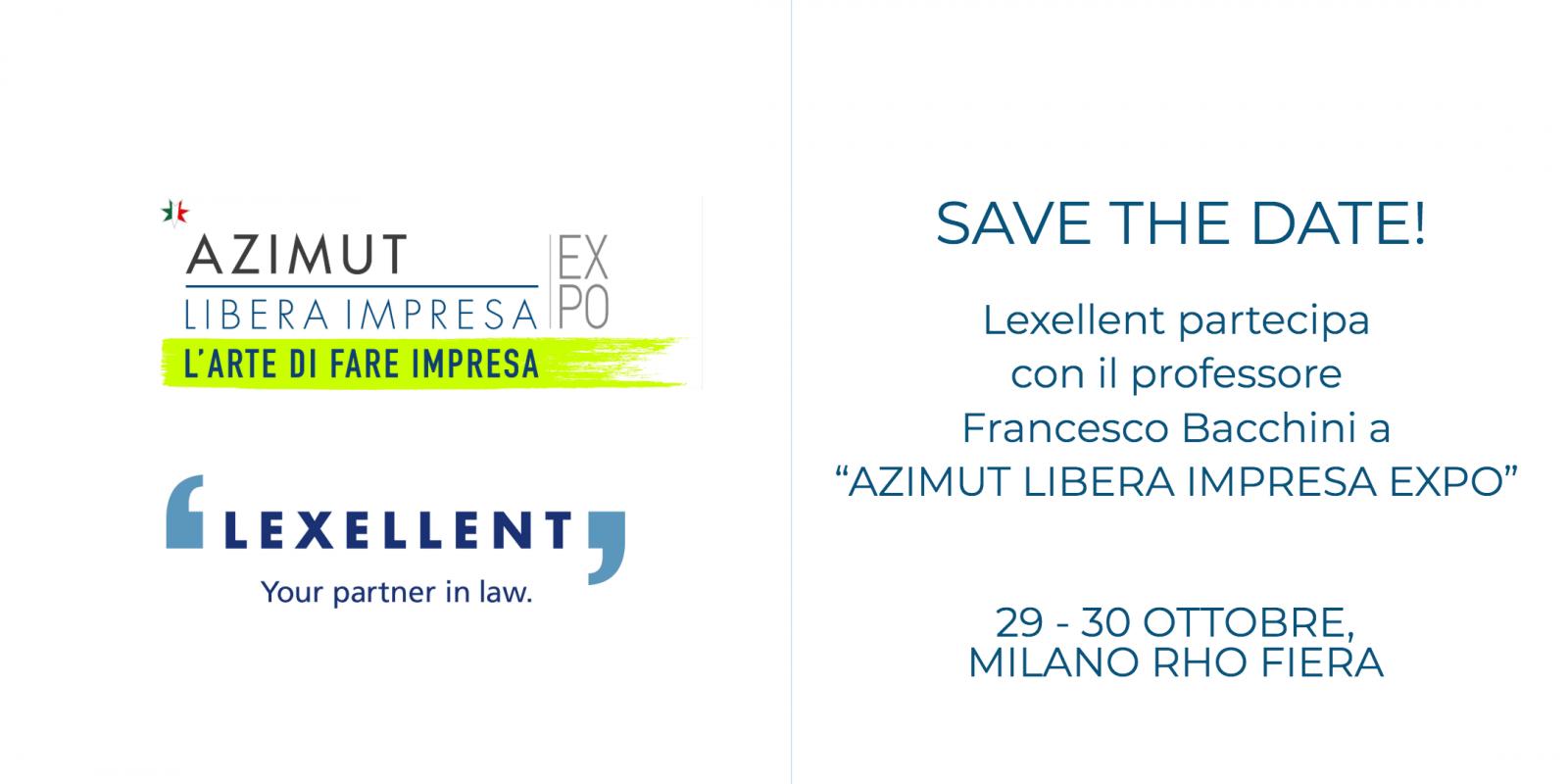 "Lexellent partner dell'evento ""AZIMUT LIBERA IMPRESA EXPO"""