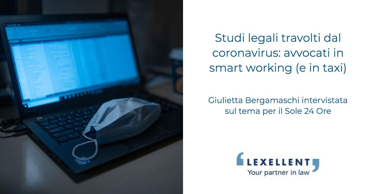 Studi legali travolti dal coronavirus: avvocati in smart working (e in taxi)