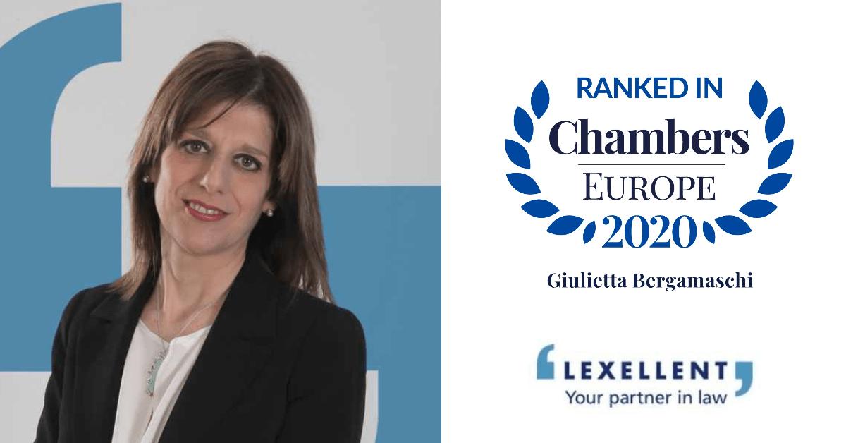 Anche quest'anno Lexellent e Giulietta Bergamaschi su Chambers & Partners