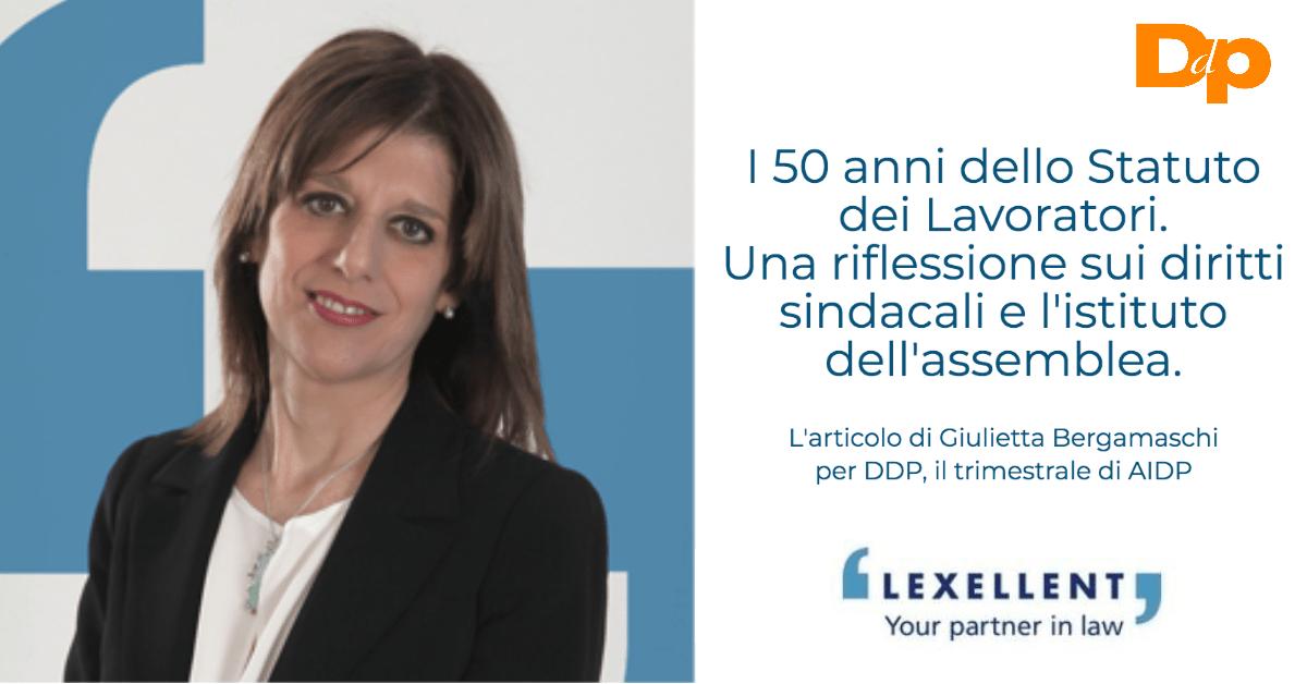 I 50 anni dello Statuto dei Lavoratori. L'articolo di Giulietta Bergamaschi per DDP il trimestrale di AIDP