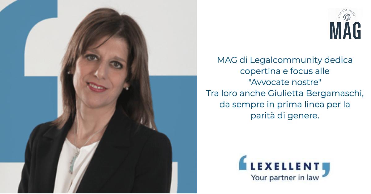 """Giulietta Bergamaschi nel focus di MAG """"Avvocate nostre"""""""