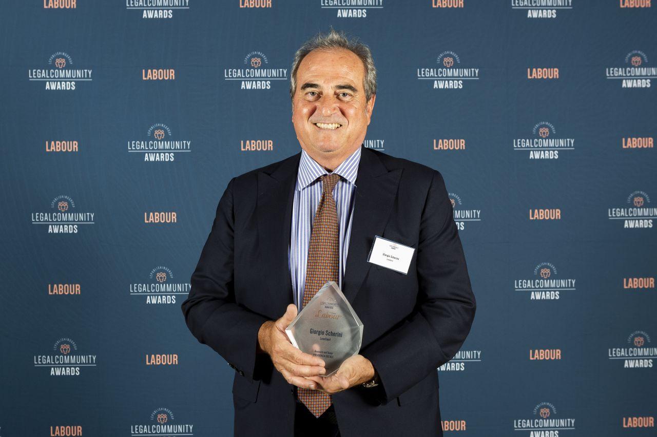 Legalcommunity Labour Awards 2020: Giorgio Scherini Avvocato dell'Anno Previdenza Sociale