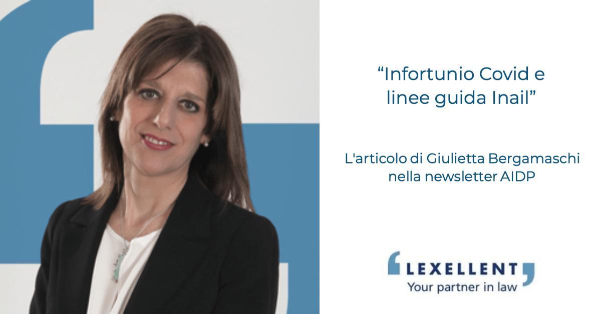 """""""Infortunio Covid e linee guida INAIL"""": l'articolo di Giulietta Bergamaschi per la newsletter AIDP"""