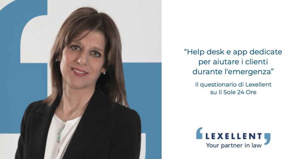 """""""Help desk e app dedicate per aiutare i clienti durante l'emergenza"""" – Il questionario Lexellent sul Sole 24 Ore"""