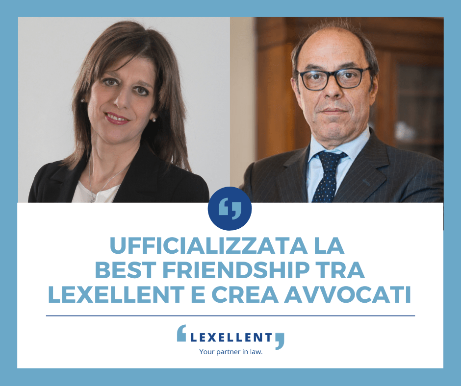 """Lexellent e Crea Avvocati siglano un accordo di """"best friendship"""""""
