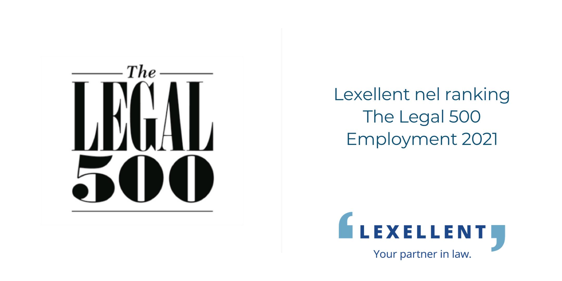 Lexellent nel ranking The Legal 500 Employment 2021