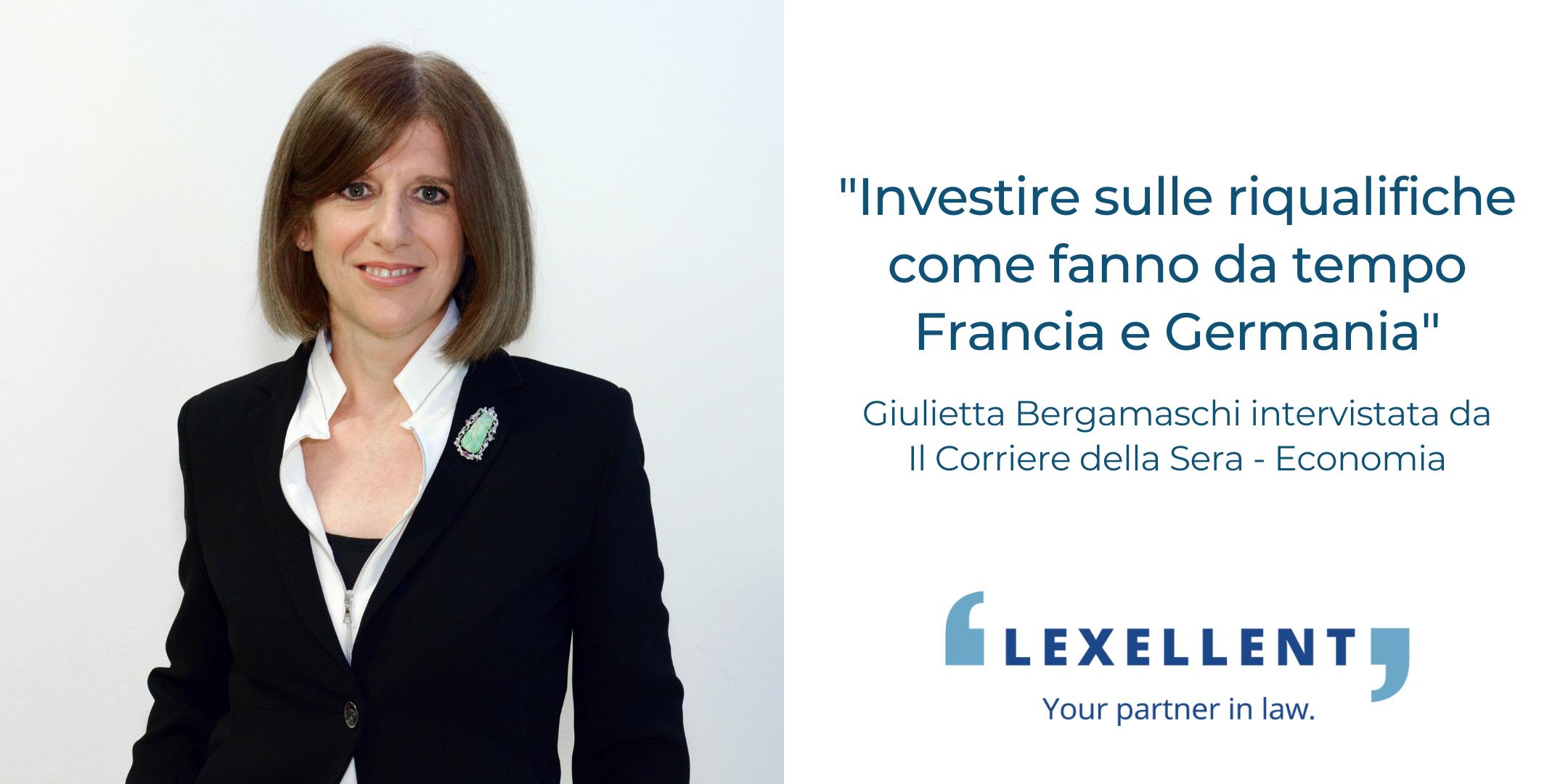 Politiche attive del lavoro: l'intervista a Giulietta Bergamaschi su Il Corriere della Sera – Economia